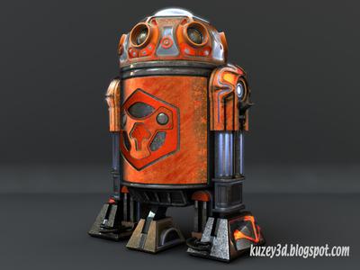 Star Wars Droid: Textured star wars droid robots scifi lightwave3d 3d steampunk