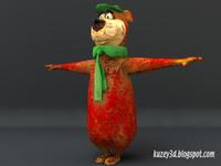 Low Poly Yogi Bear