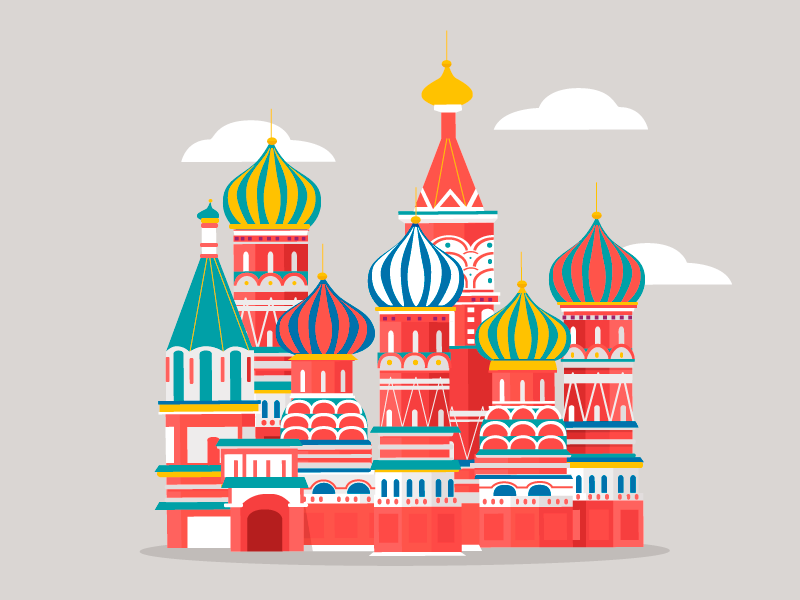 St Basil Cathedral By Maria Dolores Abujas On Dribbble