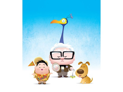 Kawaii Up kawaii cute up pixar disney russell kevin dug cark fredrickson chibi