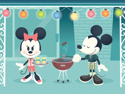 Modern Mouse wonderground gallery disney mickey mouse minnie mouse cute kawaii patio