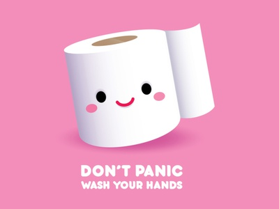 Don't Panic kawai cute vector illustration illustrator