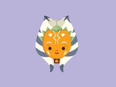 Ahsoka vector ahsoka tano clone wars star wars jmaruyama jerrod maruyama illustration character design cute kawaii
