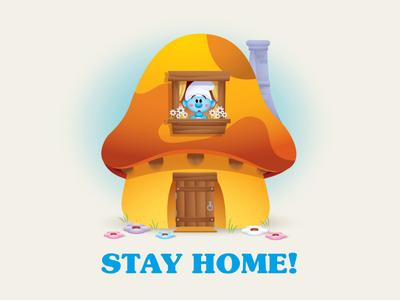 Stay Home adobe illustrator vector art illustration design character design jerrod maruyama cute