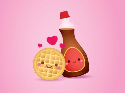 Waffle + Syrup vector character kawaii illustration character design jerrod maruyama cute