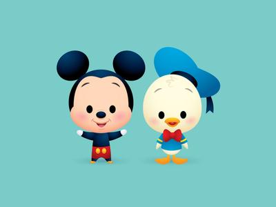 Little Pals digital kawaii cute vector adobe illustrator illustration character design character art disney
