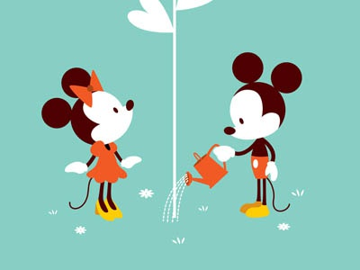 Love In Bloom mickey mouse minnie mouse disney wonderground love