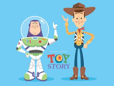 Woody and Buzz cute toy story woody buzz lightyear pixar disney jerrod maruyama