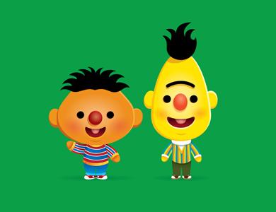 Kawaii Ernie & Bert