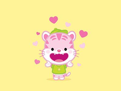 Strawberry Tiger illustration jerrod maruyama kawaii cute character design