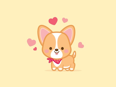 Cutie Pup character design kawaii illustration jerrod maruyama cute