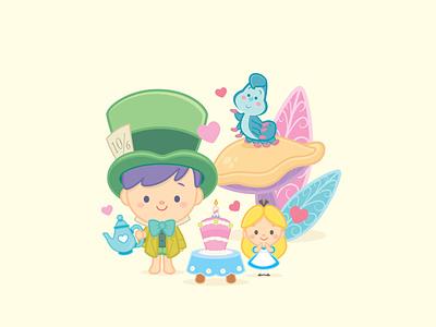 Little Alice vector illustration character design jerrod maruyama kawaii cute cute art
