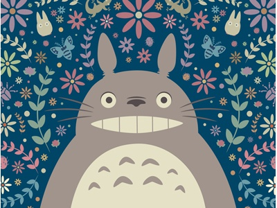 Totoro Garden totoro my neighbor totoro jerrod maruyama supahcute designer con 2013 ghibli