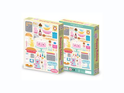 Happy Baking Puzzle adobe illustrator vector jmaruyama character design jerrod maruyama kawaii cute