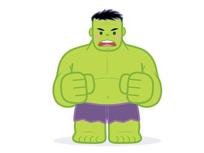 Hulk disney adobe illustrator vector character design illustration cute jerrod maruyama