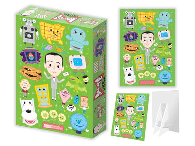 Pee-wee's Playhouse Puzzle adobe illustrator vector character design illustration jerrod maruyama puzzle