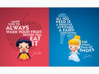 Life Lessons From Princesses kawaii cute jerrod maruyama disney princess snow white cinderella disneyland