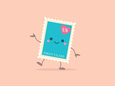 Stamp vector adobe illustrator illustration character design jerrod maruyama kawaii cute