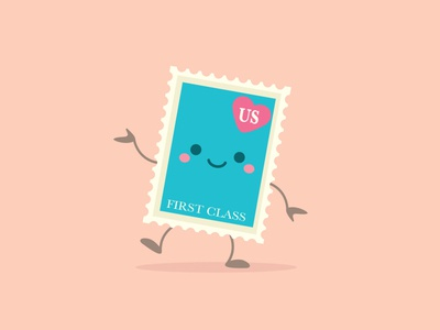 Stamp vector adobe illustrator illustration character design jerrod maruyama kawaii cute