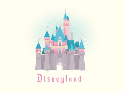Disneyland Castle adobe illustrator vector disneyland design logo illustration jerrod maruyama kawaii cute disney
