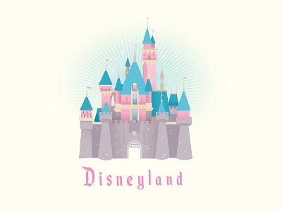 Disneyland Castle adobe illustrator vector disneyland design logo illustration jerrod maruyama kawaii cute disney