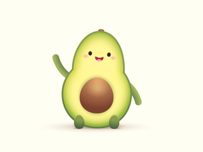 Happy Little Avocado adobe illustrator logo design illustration character design jerrod maruyama kawaii cute