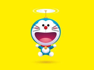 Doraemon adobe illustrator vector vectorart jmaruyama illustration character design jerrod maruyama kawaii cute art cute