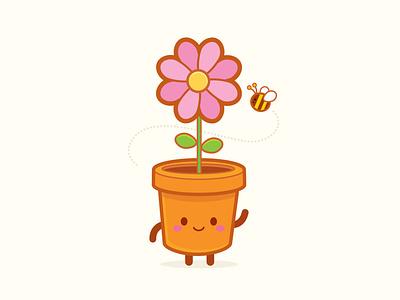Flower Pot Head adobe illustrator vector jmaruyama illustration character design jerrod maruyama kawaii cute