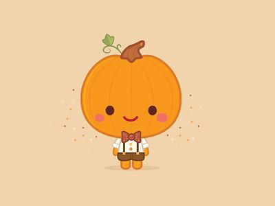 Pumpkin Spice Boy adobe illustrator vector character design jmaruyama illustration jerrod maruyama cute kawaii