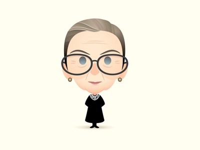 RIP RBG character design jmaruyama illustration