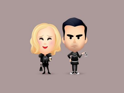 Moira and David adobe illustrator vector jmaruyama illustration character design cute jerrod maruyama