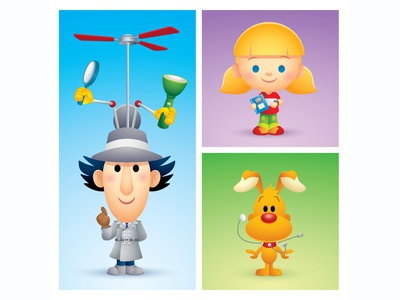 Go Gadget GO jmaruyama adobe illustrator vector character design illustration cute kawaii jerrod maruyama