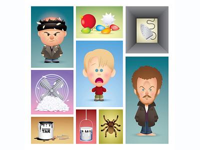 Home Alone adobe illustrator vector cute kawaii illustration character design jerrod maruyama