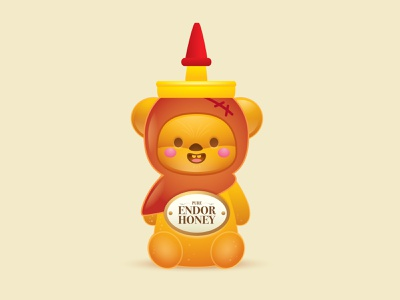 Pure Endor Honey disney star wars adobe illustrator vector illustration cute kawaii jerrod maruyama
