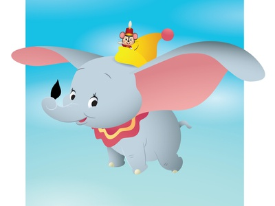 DUmbo character design adobe illustrator vector illustration kawaii disney cute jerrod maruyama