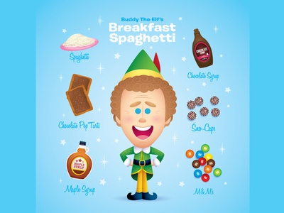 Breakfast Spaghetti (Variant) gallery 1988 jmaruyama character design adobe illustrator vector kawaii illustration cute jerrod maruyama