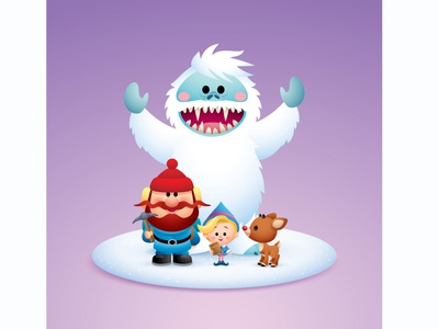 Rudolph & Friends -  Group (Color Variant) gallery 1988 jmaruyama illustration adobe illustrator vector character design kawaii cute jerrod maruyama