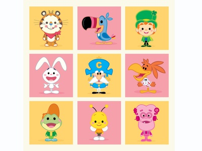 Cereal Boxes (Sunrise Edition) vector adobe illustrator illustration character design kawaii cute jerrod maruyama