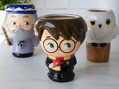 Harry, Hedwig and Dumbledore adobe illustrator vector character design cute kawaii illustration jerrod maruyama