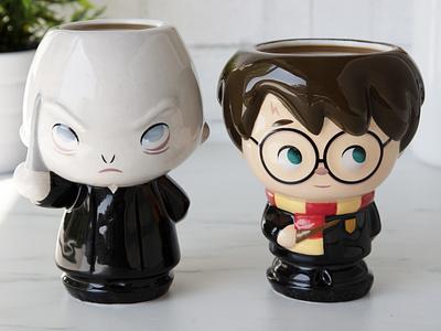 Harry and Voldemort illustration character design kawaii jerrod maruyama cute