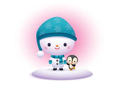 Holiday Friends adobe illustrator vector illustration jmaruyama character design kawaii jerrod maruyama cute