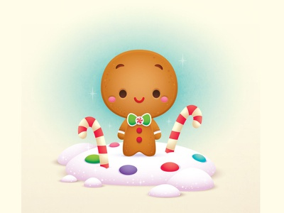 Gingerbread Boy jmaruyama illustration adobe illustrator vector character design kawaii cute jerrod maruyama