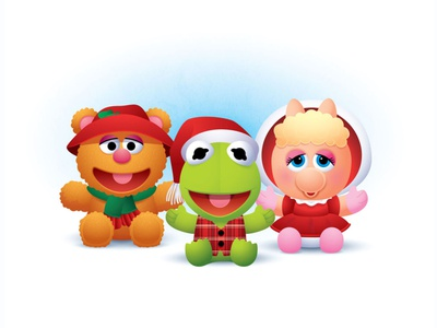 Muppet Babies muppets disney jmaruyama vector adobe illustrator illustration character design kawaii cute jerrod maruyama