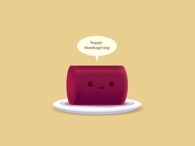 Jellied Cranberry Sauce jmaruyama illustration adobe illustrator vector kawaii character design jerrod maruyama cute
