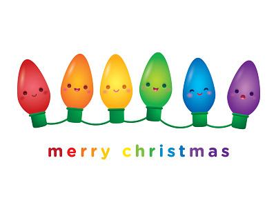 Holiday Lights vector illustration adobe illustrator character design kawaii jerrod maruyama cute
