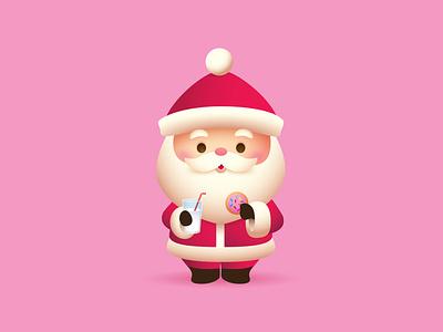 Little Santa adobe illustrator illustration vector character design kawaii jerrod maruyama cute