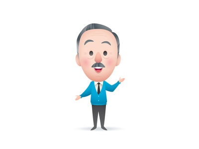 Walt vector adobe illustrator disneyland illustration jmaruyama character design disney kawaii jerrod maruyama cute