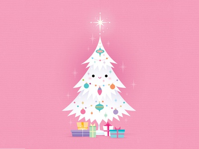 Christmas Tree jmaruyama vector adobe illustrator illustration character design kawaii jerrod maruyama cute