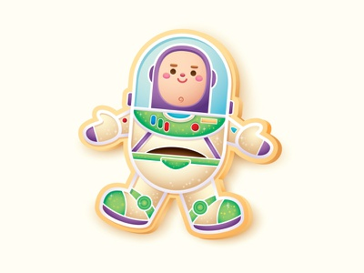 Buzz Cookie vector adobe illustrator pixar illustration jmaruyama character design disney kawaii jerrod maruyama cute