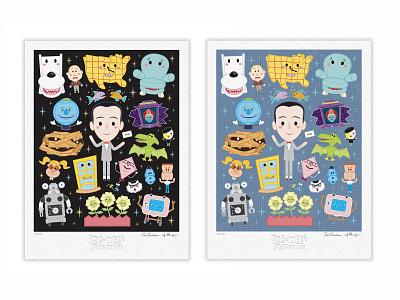 Pee-wee's Playhouse vector adobe illustrator illustration character design kawaii jerrod maruyama cute